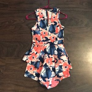 Floral Romper (size small)